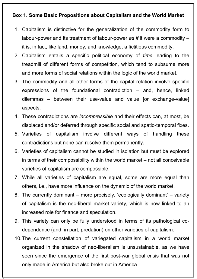 Rethinking the Diversity and Varieties of Capitalism: on